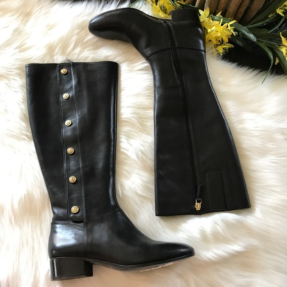 97b050e74c0 Nine West Oreyan Tall Boots Black NWT